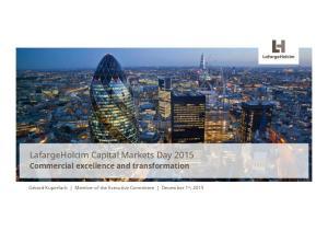 LafargeHolcim Capital Markets Day 2015