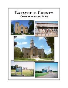 LAFAYETTE COUNTY COMPREHENSIVE PLAN