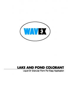 LAKE AND POND COLORANT