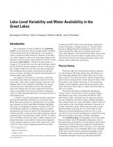 Lake-Level Variability and Water Availability in the Great Lakes