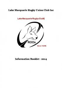 Lake Macquarie Rugby Union Club Inc