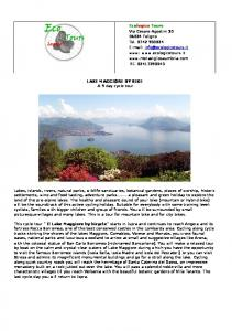 LAKE MAGGIORE BY BIKE A 9 day cycle tour