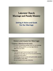 Lakeview Church Marriage and Family Ministry