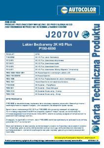 Lakier Bezbarwny 2K HS Plus P