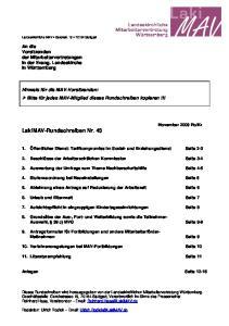 LakiMAV-Rundschreiben Nr. 43