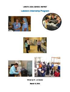 Lakota s Internship Program