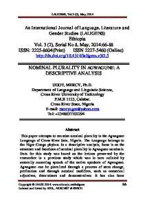 LALIGENS, Vol.3 (2), May, 2014