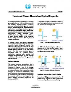 Laminated Glass Thermal and Optical Properties