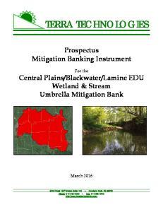 Lamine EDU Wetland & Stream Umbrella Mitigation Bank