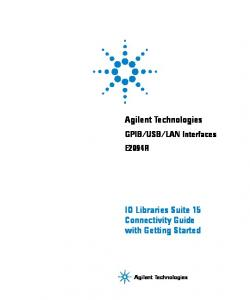 LAN Interfaces E2094R. Agilent Technologies