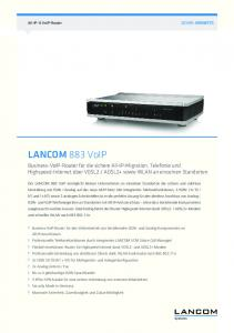 LANCOM 883 VoIP. All-IP- & VoIP-Router