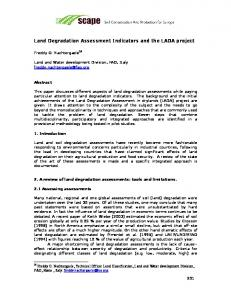 Land Degradation Assessment Indicators and the LADA project