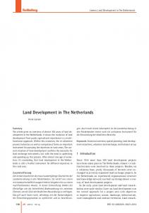 Land Development in The Netherlands