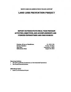 LAND LOSS PREVENTION PROJECT