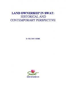 LAND OWNERSHIP IN SWAT: HISTORICAL AND CONTEMPORARY PERSPECTIVE