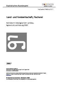 Land- und Forstwirtschaft, Fischerei