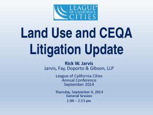 Land Use and CEQA Litigation Update