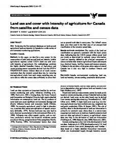 Land use and cover with intensity of agriculture for Canada