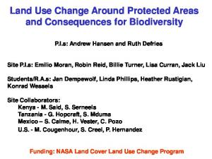 Land Use Change Around Protected Areas and Consequences for Biodiversity