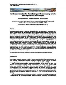 Land use evaluation for Kuala Selangor, Malaysia using remote sensing and GIS technologies