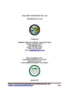 LAND & WATER CONSERVATION FUND PROGRAM GUIDELINES. Prepared by