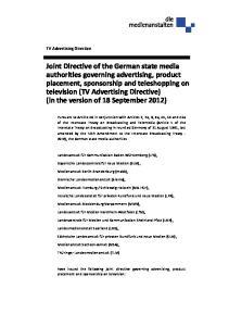 Landesanstalt für Kommunikation Baden Württemberg (LFK), Bayerische Landeszentrale für neue Medien (BLM),