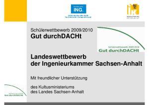 Landeswettbewerb der Ingenieurkammer Sachsen-Anhalt
