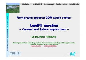 Landfill aeration - Current and future applications -