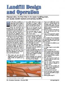 Landfill Design and Operation