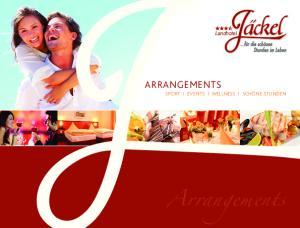 Landhotel. ARRANgements. Arrangements