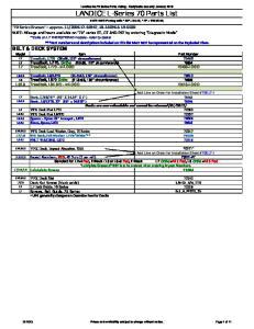 LANDICE L-Series 70 Parts List