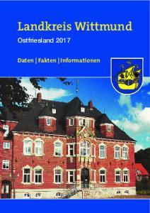 Landkreis Wittmund. Ostfriesland Daten Fakten Informationen