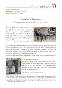 Landleben in Ravensberg