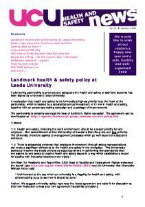 Landmark health & safety policy at Leeds University