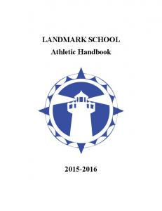 LANDMARK SCHOOL Athletic Handbook