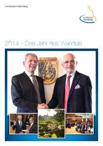 Landratsamt Bamberg Das Jahr des Wandels