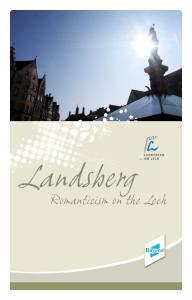 Landsberg. Romanticism on the Lech