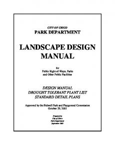 LANDSCAPE DESIGN MANUAL