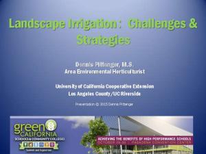 Landscape Irrigation: Challenges & Strategies