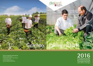 Landwirtschaft Forstwirtschaft Ziele, Mittel, Leistungen
