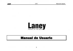 Laney LX12 Manual de Usuario. Manual de Usuario