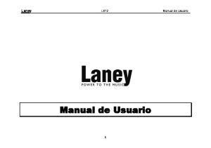 Laney LX12 Manual de Usuario. Manual de Usuario