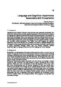 Language and Cognitive Impairments Associated with Encephalitis