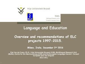 Language and Education