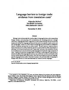 Language barriers to foreign trade: evidence from translation costs