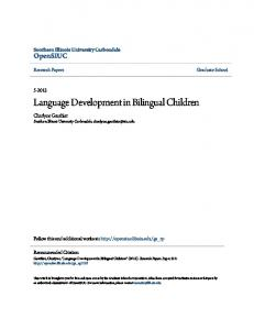 Language Development in Bilingual Children