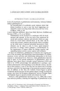 LANGUAGE EDUCATION AND GLOBALIZATION