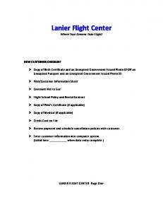 Lanier Flight Center Where Your Dreams Take Flight!