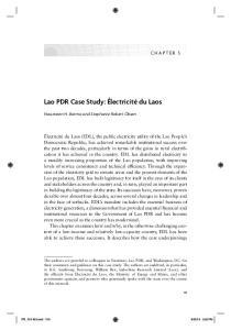 Lao PDR Case Study: Électricité du Laos