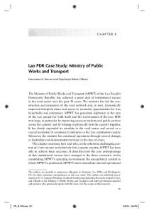 Lao PDR Case Study: Ministry of Public Works and Transport